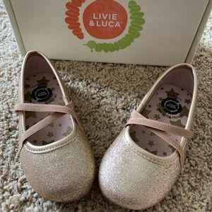 Livie & Luca gold shoes